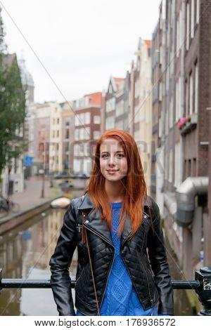 Beautiful Young Woman Exploring The Town