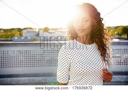 Sunlit Black Woman