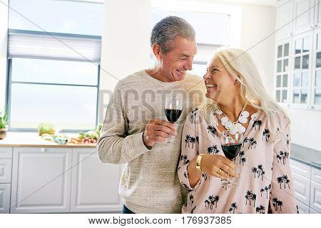 Smiling Happy Elderly Couple Enjoying Retirement