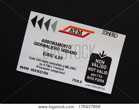 Milan One Day Travelcard