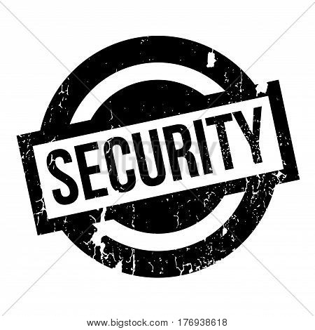 Security rubber stamp. Grunge design with dust scratches. Effects can be easily removed for a clean, crisp look. Color is easily changed.