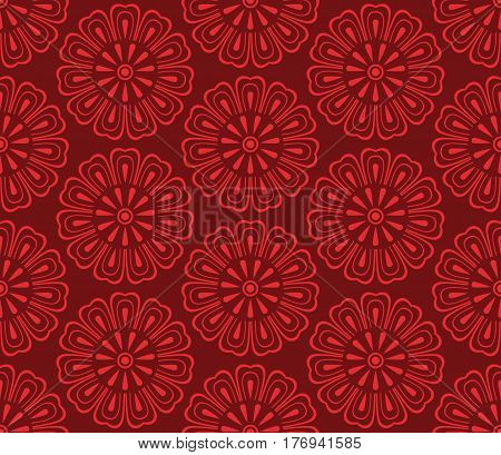 Seamless vector korean pattern, tradition asian ornament