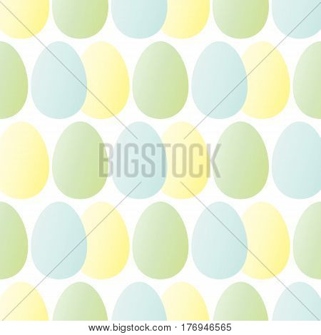 Pattern of Easter eggs in pastel tones