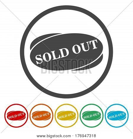 Sold Out icon vector over a white background