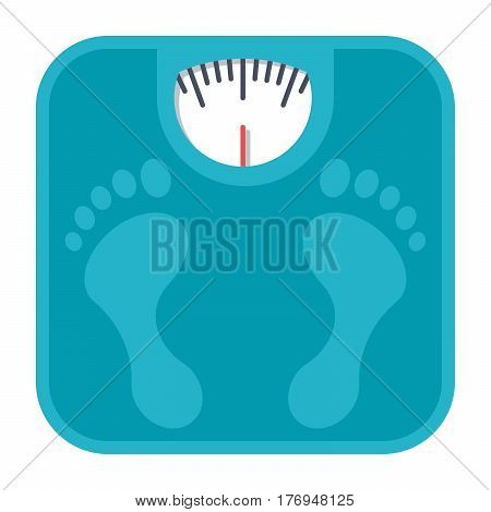 Bathroom scales, vector illustration in flat style