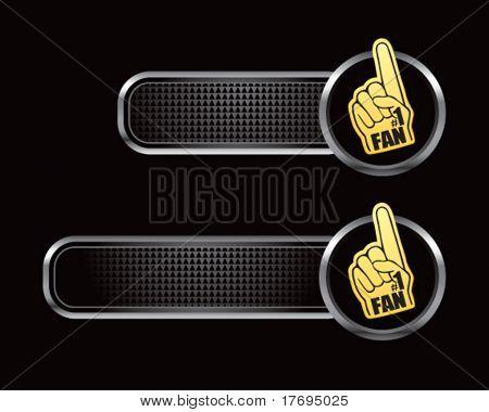 fan hand on black tabs