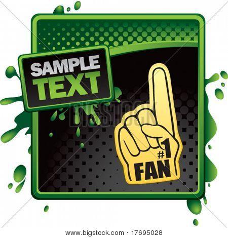 number one fan foam hand on classy modern style grunge template