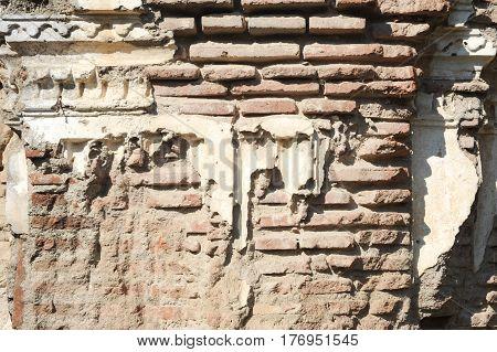 Antigua, Guatemala - 3 February 2014: ruin of a wall at Antigua on Guatemala