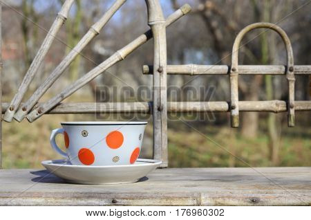 Rustic Still Life With A Cup Of Tea