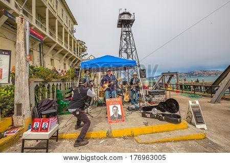 San Francisco, California, United States - August 14, 2016: show at Alcatraz sally port of William G. Baker, Alcatraz former inmate during 1950s. Writer of story book of prison: Alcatraz-1259