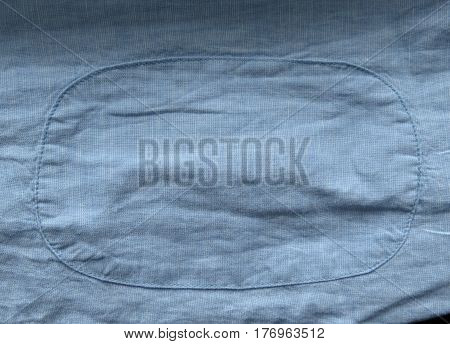 Light Blue Fabric Texture With Patch Background
