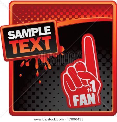 fan hand on classy modern style grunge template