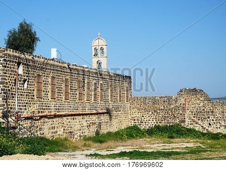 Wall and Belfry of the Greek Orthodox Monastery in honor of the Twelve Apostles Tiberias
