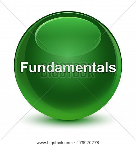 Fundamentals Glassy Soft Green Round Button