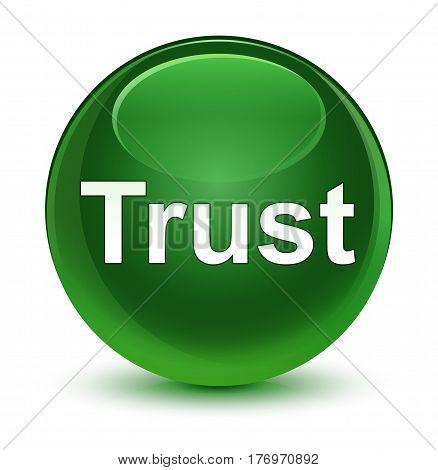 Trust Glassy Soft Green Round Button
