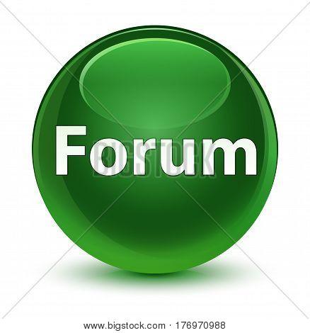 Forum Glassy Soft Green Round Button