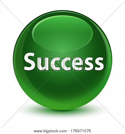 Success Glassy Soft Green Round Button