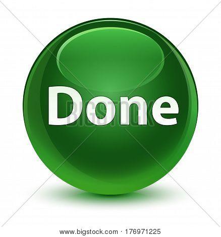 Done Glassy Soft Green Round Button