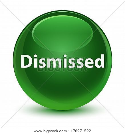 Dismissed Glassy Soft Green Round Button