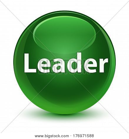 Leader Glassy Soft Green Round Button