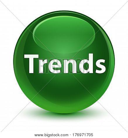 Trends Glassy Soft Green Round Button