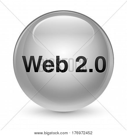Web 2.0 Glassy White Round Button