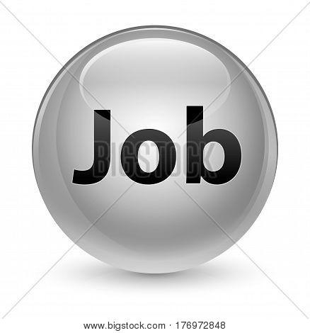 Job Glassy White Round Button