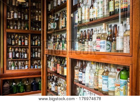 Cachaca Alcohol Bottles Collection In Brazil