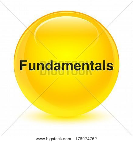 Fundamentals Glassy Yellow Round Button