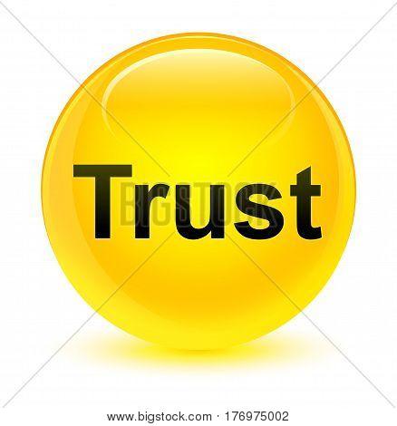 Trust Glassy Yellow Round Button
