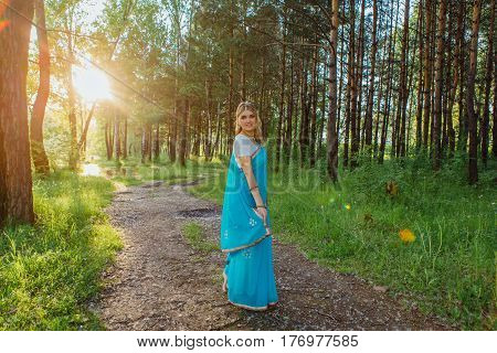 Beautiful European Woman In Sari