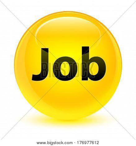 Job Glassy Yellow Round Button
