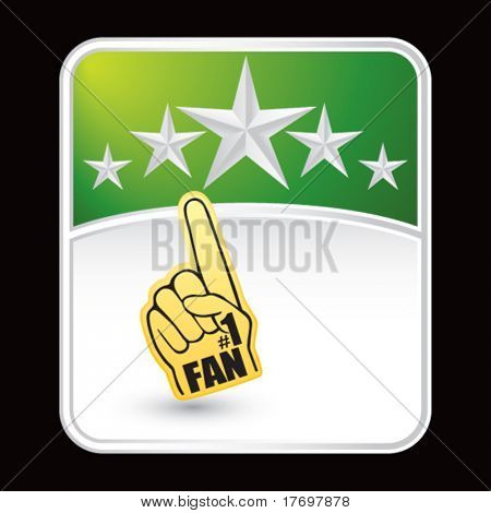 foam fan hand on green star template