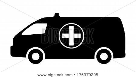 The car of medical service. Vector illustration.