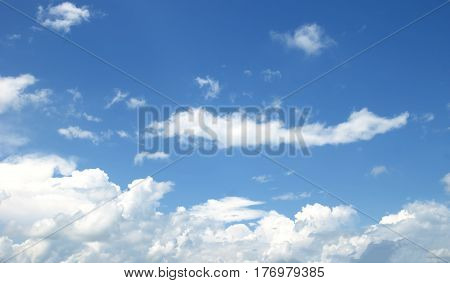 Blue Sky White Clouds Abstract