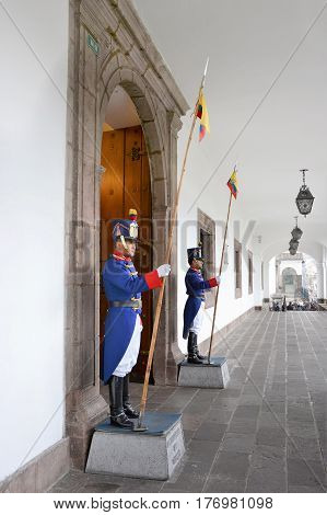 Palace Guard At The Presidential Palace