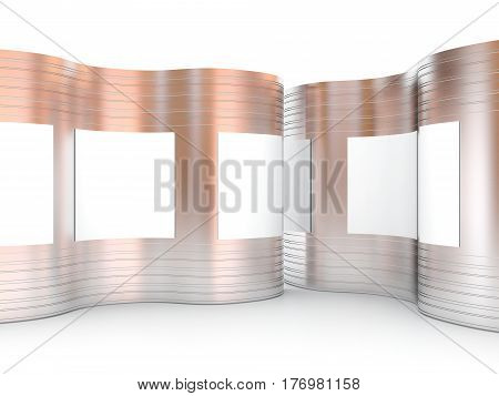 Blank Advertising Billboard Curve Abstract