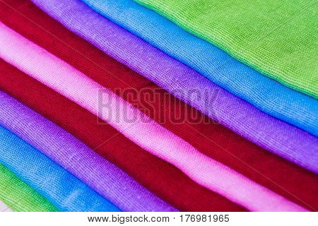 Texture of vintage color fabric material sample background