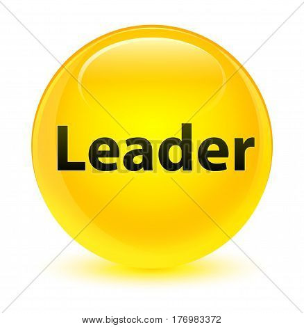 Leader Glassy Yellow Round Button