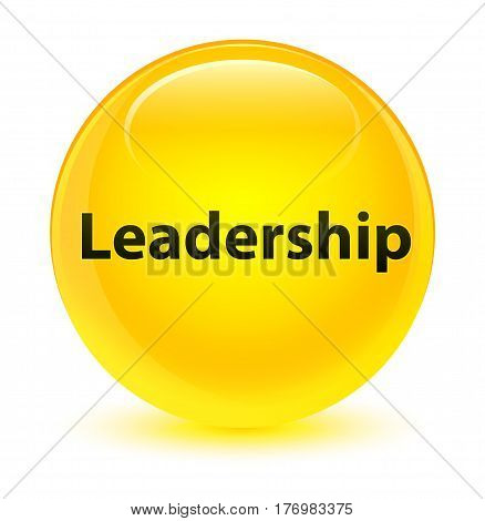 Leadership Glassy Yellow Round Button