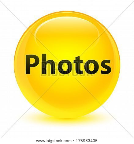 Photos Glassy Yellow Round Button