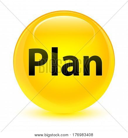 Plan Glassy Yellow Round Button
