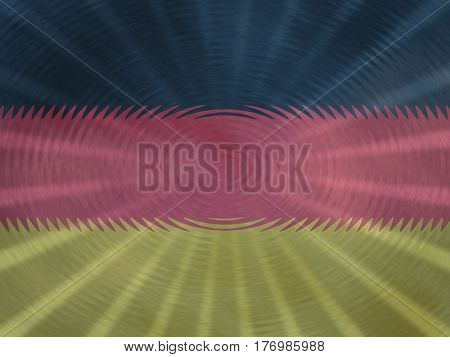 German flag background with ripples and rays illustration