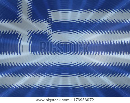 Greek flag background with ripples and rays illustration