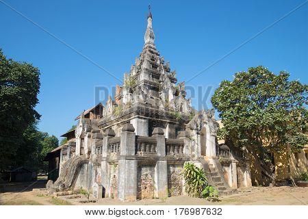 Buddhist pagoda of XI century Kyan Sit Thar Umin in the Nyaung-Oo village. Bagan, Myanmar