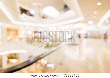 Blur view of department store