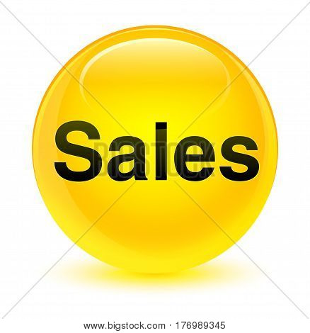 Sales Glassy Yellow Round Button