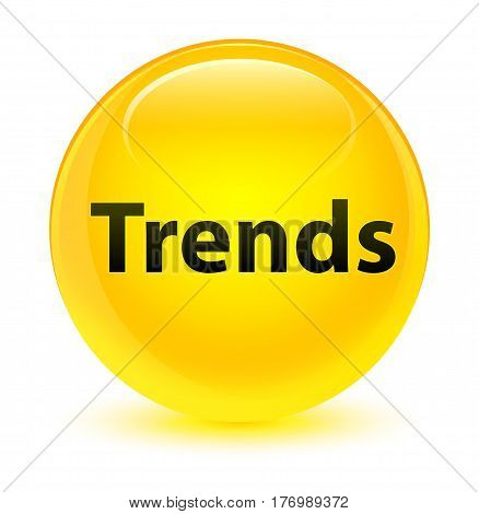 Trends Glassy Yellow Round Button