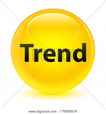 Trend Glassy Yellow Round Button