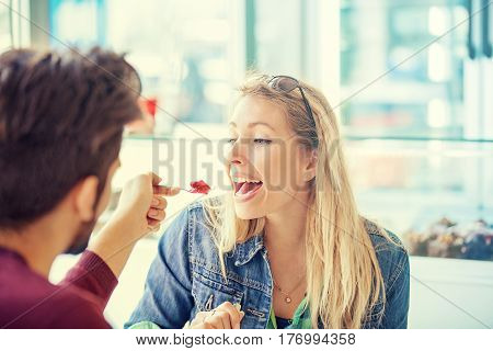 Couple In Pastry Shop